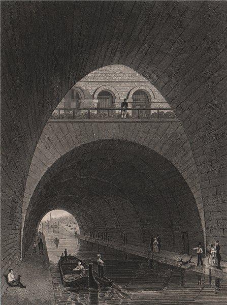 Associate Product PARIS. Canal de l'Ourcq. BICKNELL 1845 old antique vintage print picture
