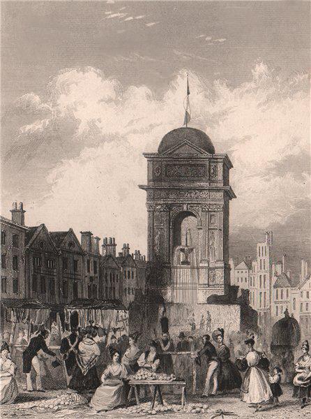 Associate Product PARIS. La Fontaine des Innocens. BICKNELL 1845 old antique print picture