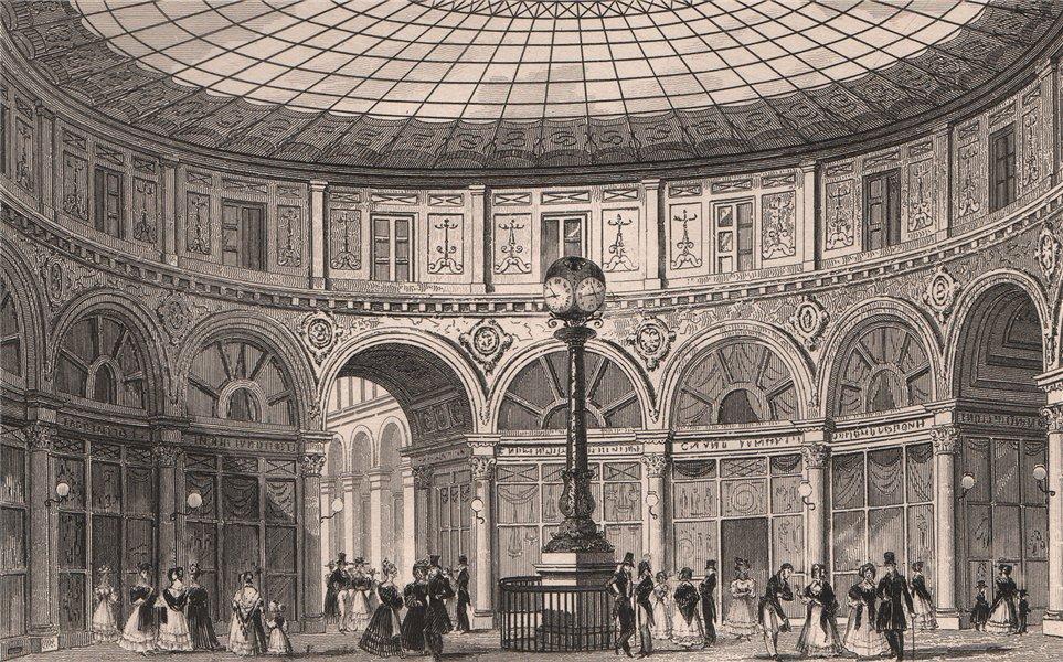 Associate Product PARIS. Rotonde, Passage Colbert. BICKNELL 1845 old antique print picture