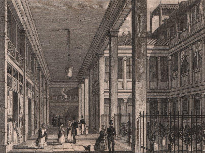 Associate Product PARIS. Passage du Saumon. BICKNELL 1845 old antique vintage print picture
