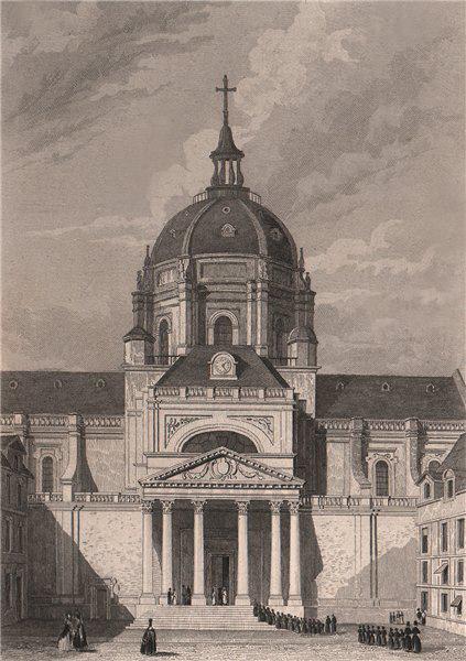 Associate Product PARIS. Eglise de Sorbonne. BICKNELL 1845 old antique vintage print picture