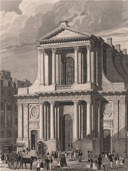 Associate Product PARIS. L'eglise de l'Oratoire. BICKNELL 1845 old antique vintage print picture