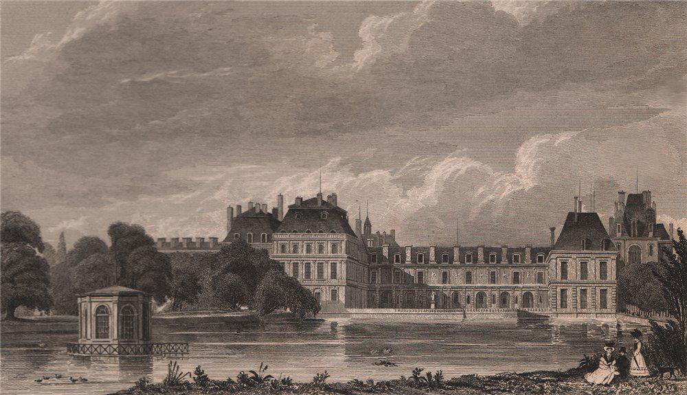 Associate Product Chateau de Fontainebleau. Seine-et-Marne. BICKNELL 1845 old antique print
