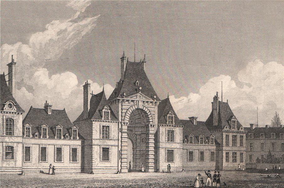 Associate Product Fontainebleau, Place d'Armes. Seine-et-Marne. BICKNELL 1845 old antique print