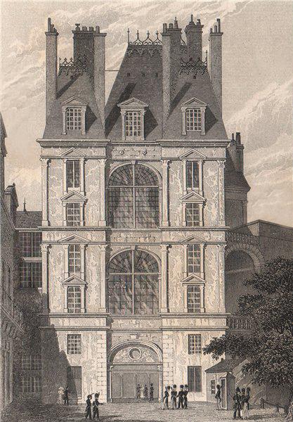Associate Product Fontainebleau, Porte Dorée. Seine-et-Marne. BICKNELL 1845 old antique print