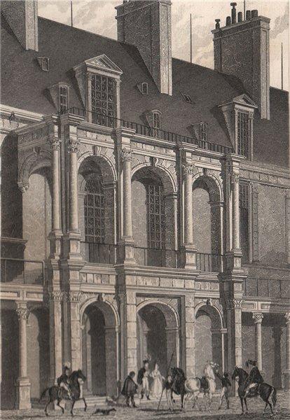 Associate Product Fontainebleau, entrée aux apartemens principaux, Cour d'Honneur. BICKNELL 1845