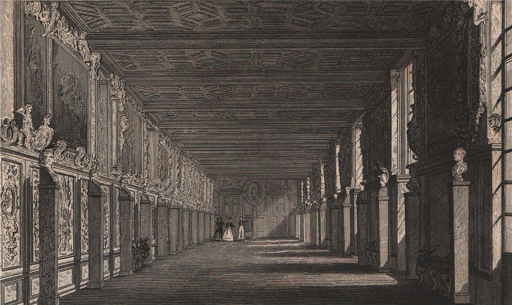 Associate Product Galerie de François I. Fontainebleau. Seine-et-Marne. BICKNELL 1845 old print