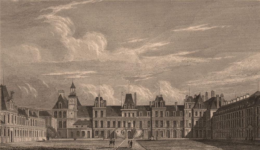 Associate Product Palais de Fontainebleau, Cour d'Honneur. Seine-et-Marne. BICKNELL 1845 print
