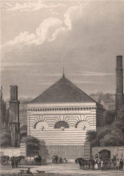 Associate Product Pompe à Feu, Passy. Paris. BICKNELL 1845 old antique vintage print picture