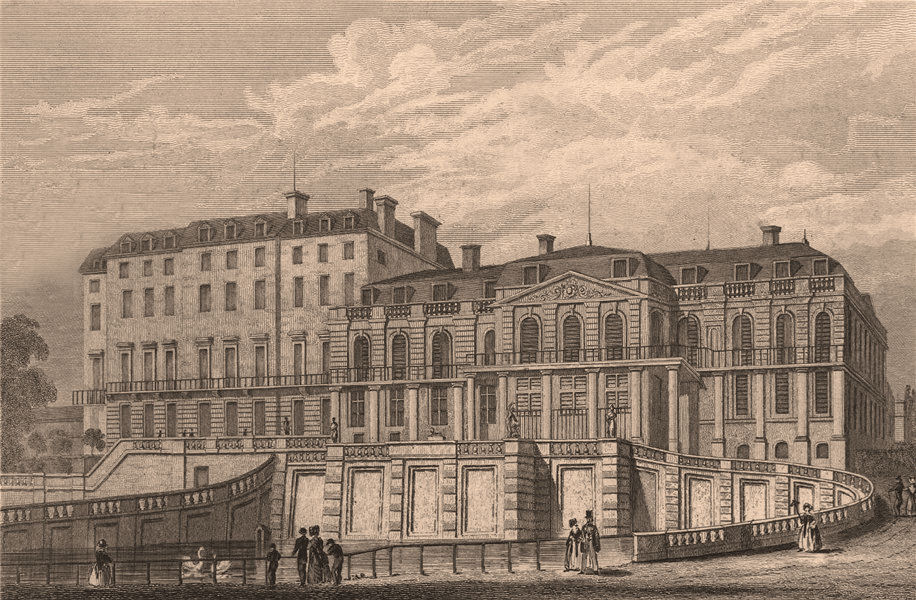 Associate Product Palais de Saint-Cloud, vue du midi. Hauts-de-Seine. BICKNELL 1845 old print
