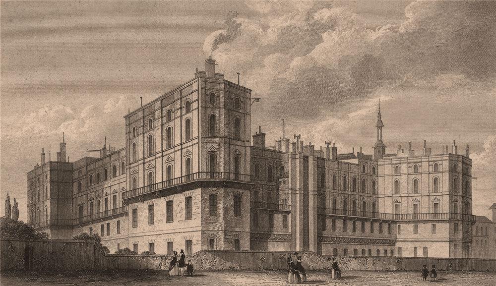 Associate Product Chateau Saint-Germain-en-Laye. Yvelines. BICKNELL 1845 old antique print