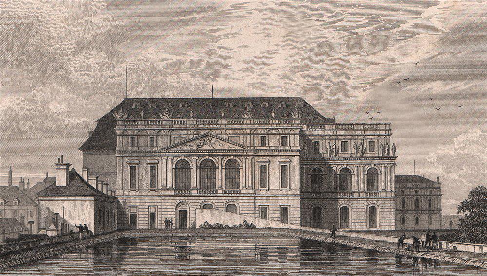 Associate Product Versailles l'Opera, vers le reservoir. Yvelines. BICKNELL 1845 old print