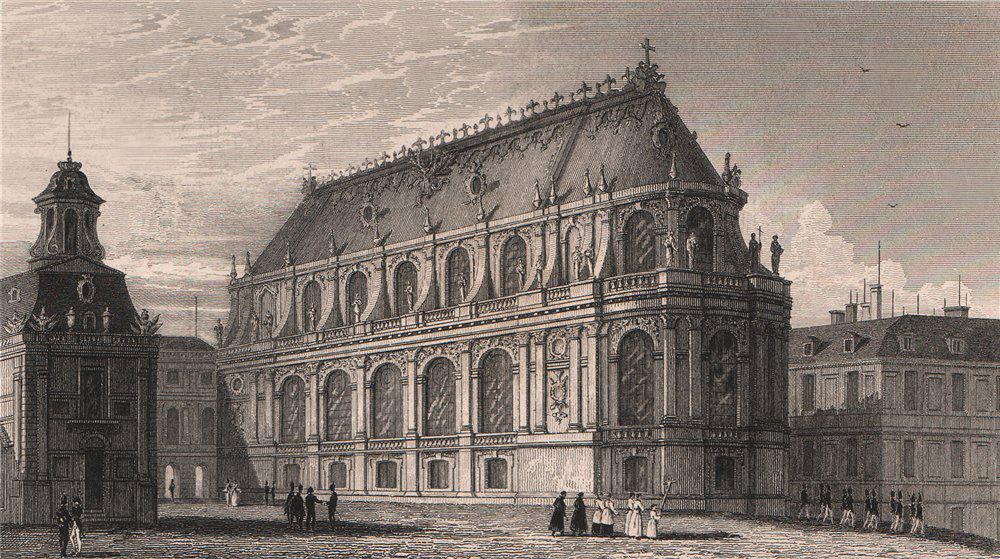Associate Product Chapelle du Palais de Versailles. Yvelines. BICKNELL 1845 old antique print
