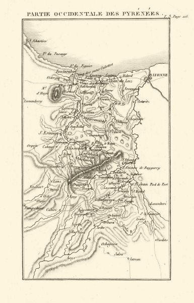 Associate Product Western Pyrénées-Atlantiques. Bayonne St-Jean-de-Luz/Pied-de- Port 1817 map
