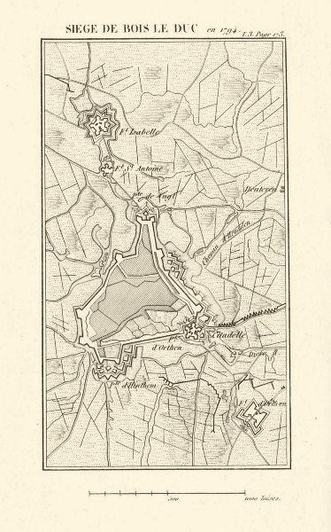 Associate Product Siege of Den Bosch (Bois le Duc) 1794. First Coalition War. Netherlands 1817 map