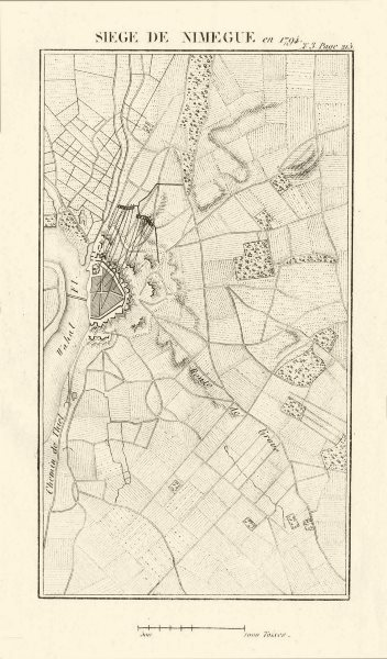Associate Product Siege of Nijmegen in 1794. War of the First Coalition. Netherlands 1817 map