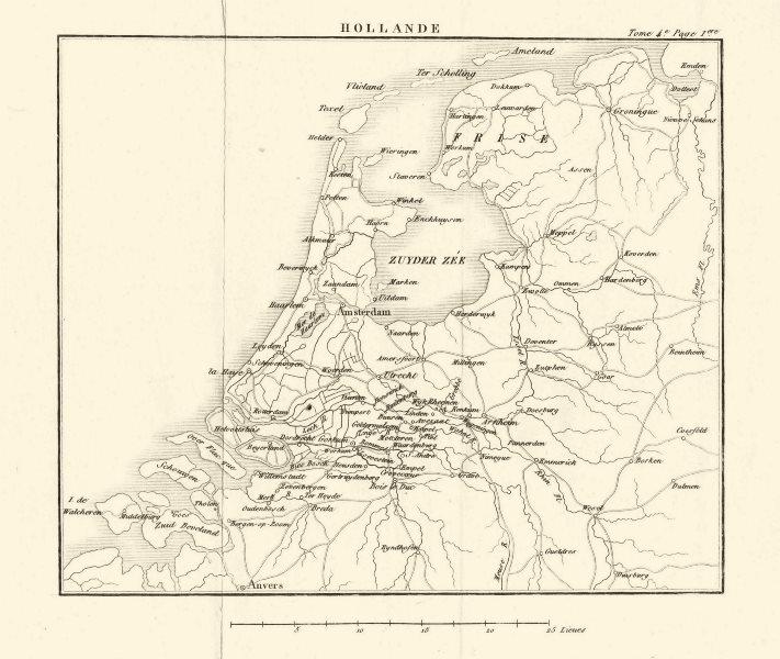 Associate Product Holland. Netherlands 1817 old antique vintage map plan chart