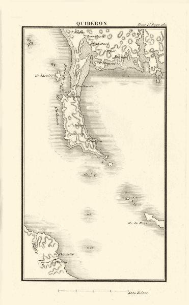 Associate Product Quiberon. Carnac. Morbihan 1817 old antique vintage map plan chart