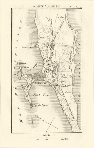 Associate Product Town plan of ALEXANDRIA, EGYPT 1818 old antique vintage map chart