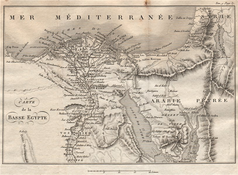Associate Product Lower Egypt. 'Basse Egypte'. Nile Delta. French Revolutionary Wars 1818 map