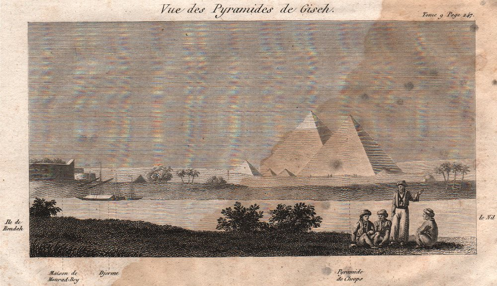 Associate Product View of the Pyramids of Giza. Egypt 1818 old antique vintage print picture