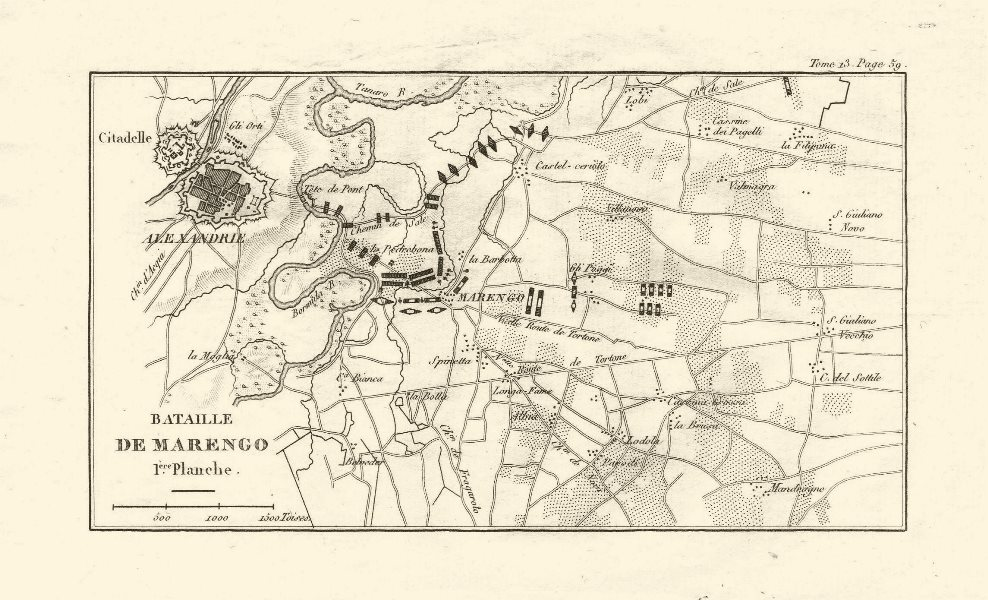 Associate Product Battle of Marengo 1800. Plate 1. Alessandria. Italy 1819 old antique map chart