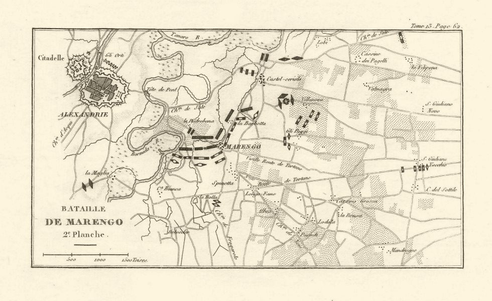 Associate Product Battle of Marengo 1800. Plate 2. Alessandria. Italy 1819 old antique map chart