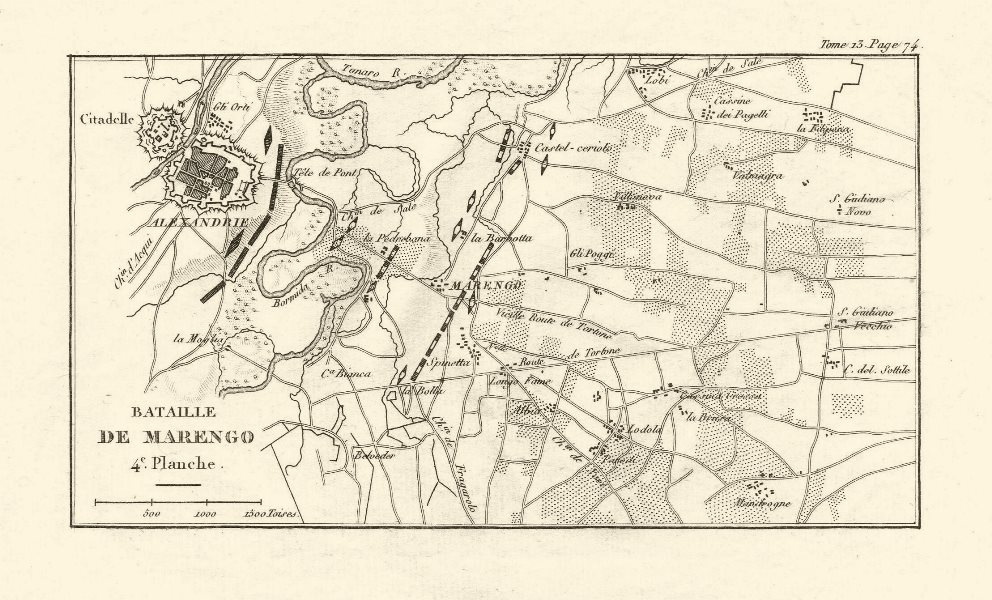 Associate Product Battle of Marengo 1800. Plate 4. Alessandria. Italy 1819 old antique map chart