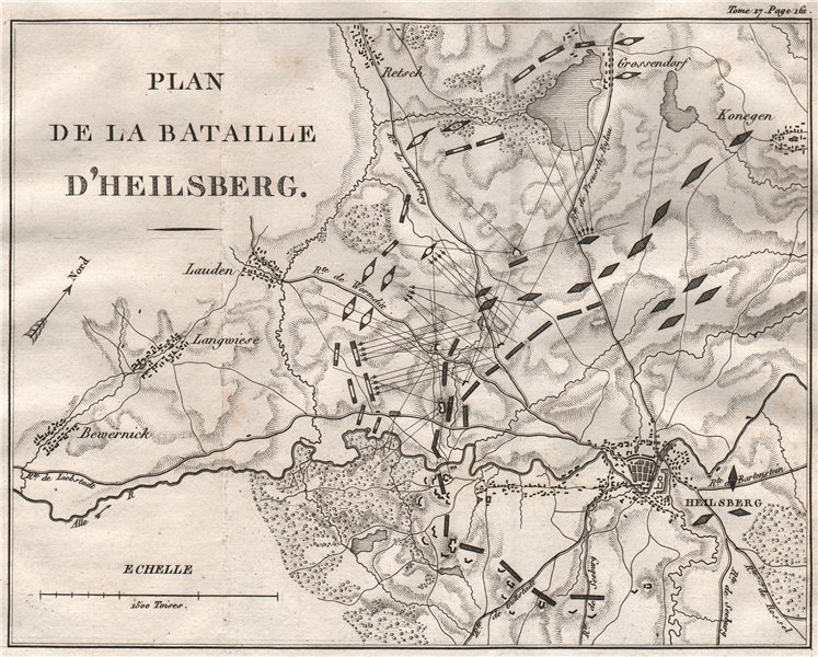 Associate Product Battle Of Heilsberg 1807. War of the Fourth Coalition. Poland 1820 old map