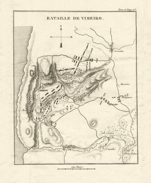 Associate Product Battle of Vimeiro 1808. Peninsula War. Portugal 1820 old antique map chart