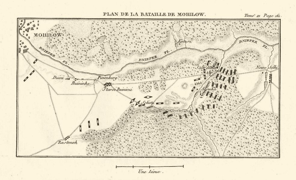 Associate Product Battle of Saltanovka (Mogilev) 1812. French Invasion of Russia. Belarus 1820 map