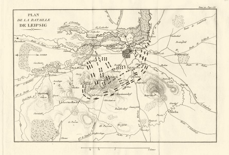Associate Product Plan of the BATTLE OF LEIPZIG 1813. Battle of the Nations. Germany 1820 map