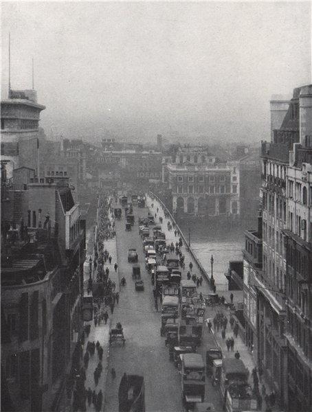 Associate Product London Bridge. E.O. HOPPÉ 1930 old vintage print picture