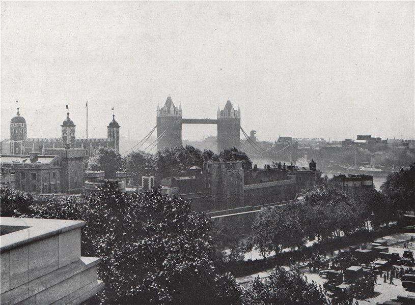 Associate Product Tower Hill. E.O. HOPPÉ. London 1930 old vintage print picture