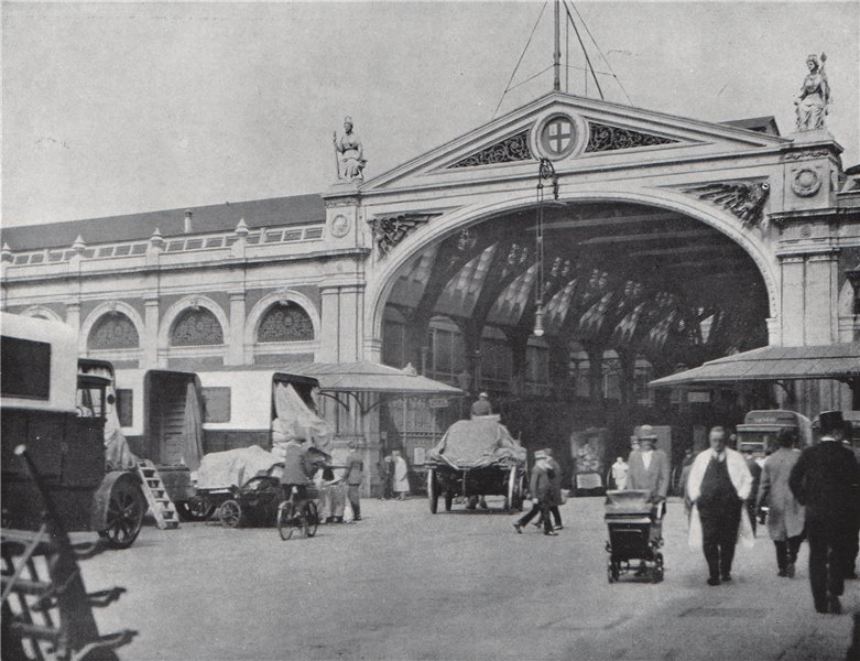 Associate Product Smithfield Market . E.O. HOPPÉ. London 1930 old vintage print picture