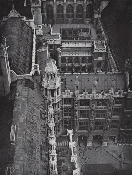Associate Product Houses of Parliament from Clock Tower, with Star Court. E.O. HOPPÉ. London 1930