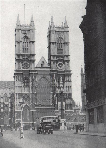 Associate Product Westminster Abbey. E.O. HOPPÉ. London 1930 old vintage print picture