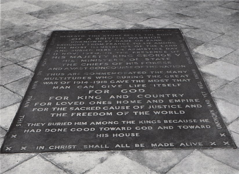 Associate Product The Unknown Warrior's Grave in Westminster Abbey. E.O. HOPPÉ. London 1930