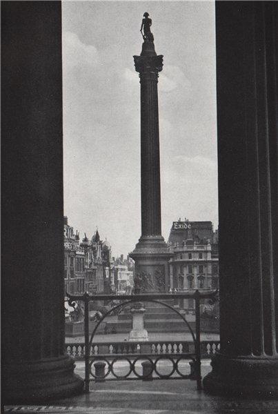 Associate Product Nelson's Column, Trafalgar Square. E.O. HOPPÉ. London 1930 old vintage print
