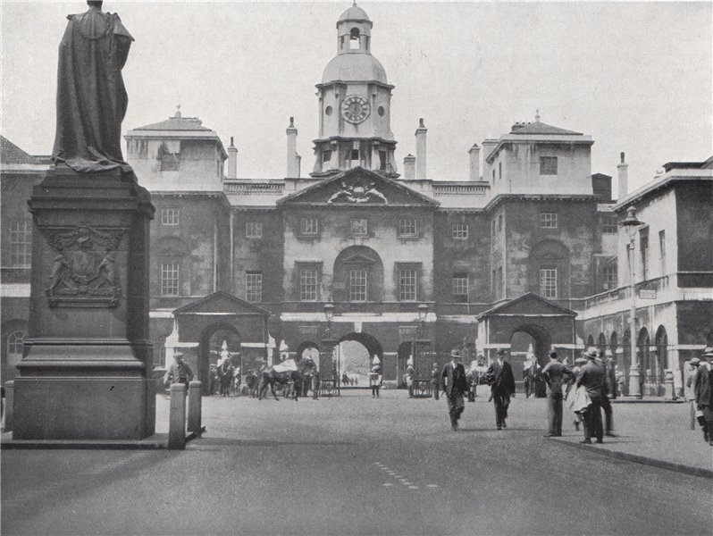 Associate Product The Horseguards, Whitehall. E.O. HOPPÉ. London 1930 old vintage print picture