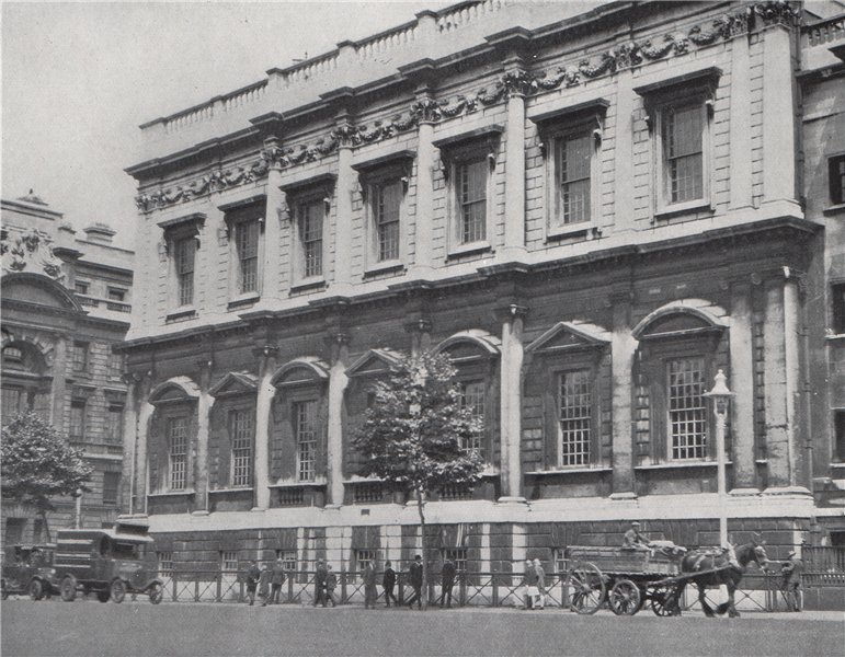 Associate Product Banqueting Hall, Whitehall. E.O. HOPPÉ. London 1930 old vintage print picture