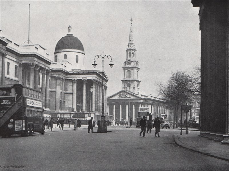 Associate Product The National Galley and St. Martin's-in-the-Fields. E.O. HOPPÉ. London 1930