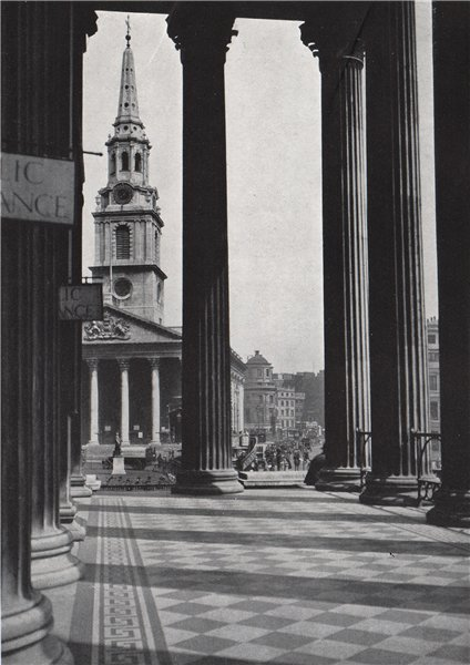 Associate Product St. Martin's-in-the-Fields. E.O. HOPPÉ. London 1930 old vintage print picture