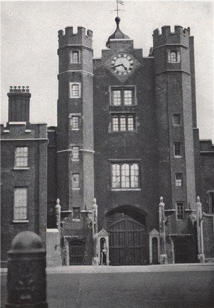 Associate Product Entrance, St. James's Palace. E.O. HOPPÉ. London 1930 old vintage print