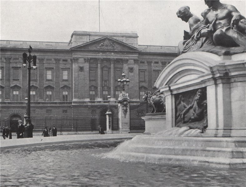 Associate Product Buckingham Palace. E.O. HOPPÉ. London 1930 old vintage print picture