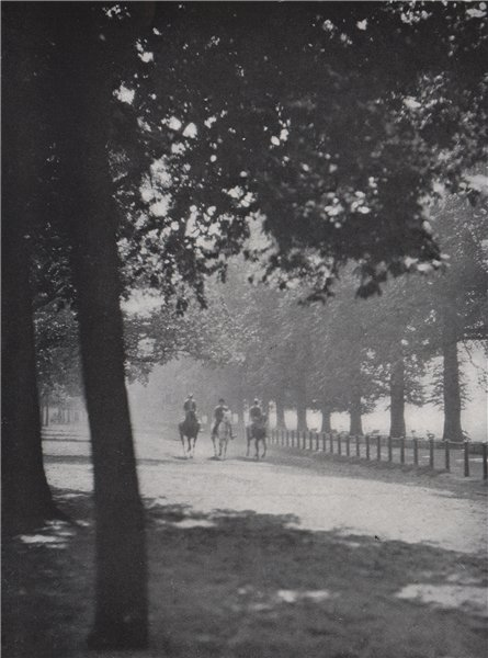 Associate Product Rotten Row, early morning . E.O. HOPPÉ. London 1930 old vintage print picture