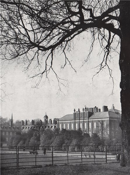 Associate Product Kensington Palace. E.O. HOPPÉ. London 1930 old vintage print picture