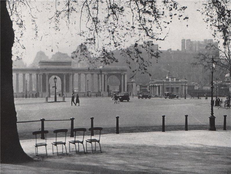 Associate Product Hyde Park Corner. E.O. HOPPÉ. London 1930 old vintage print picture