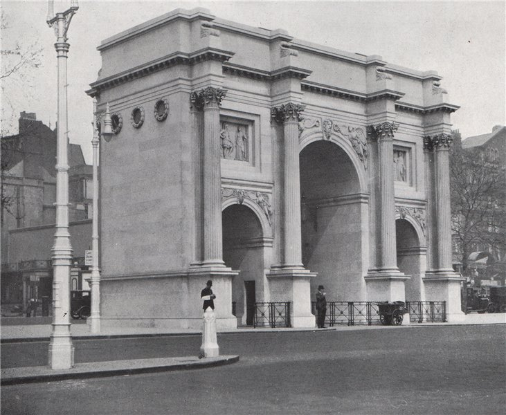 Associate Product The Marble Arch. E.O. HOPPÉ. London 1930 old vintage print picture