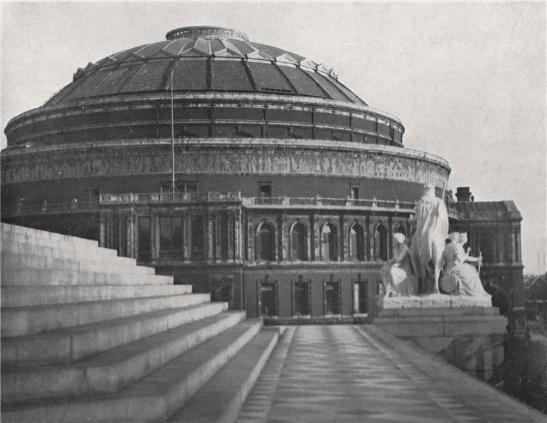 Associate Product The Albert Hall. E.O. HOPPÉ. London 1930 old vintage print picture